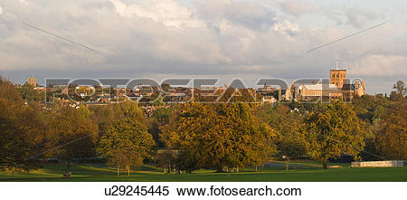 Stock Image of England, Hertfordshire, St Albans, View from.