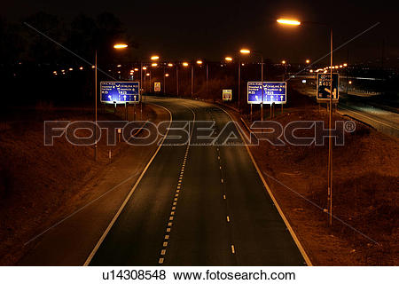 Pictures of England, Hertfordshire, St Albans, The M1 motorway at.