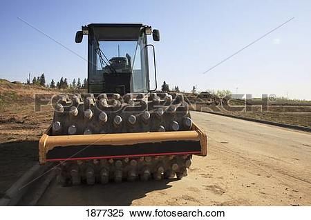 Stock Image of st. albert, alberta, canada; road construction in a.