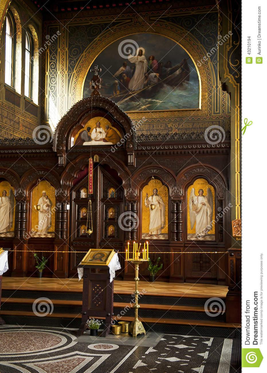 St. Alexander Nevsky Church Editorial Stock Image.