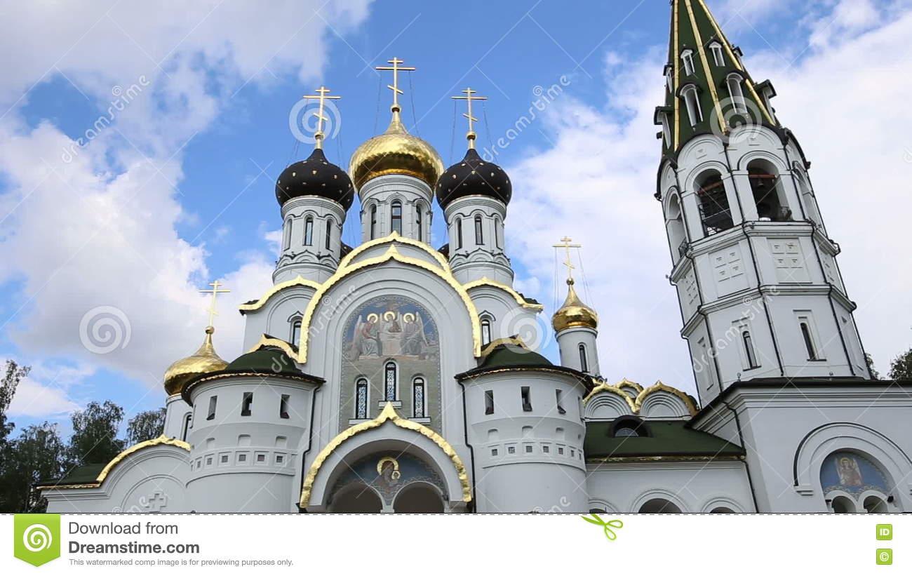 Church Of St. Alexander Nevsky, Moscow Region, Russia Stock.