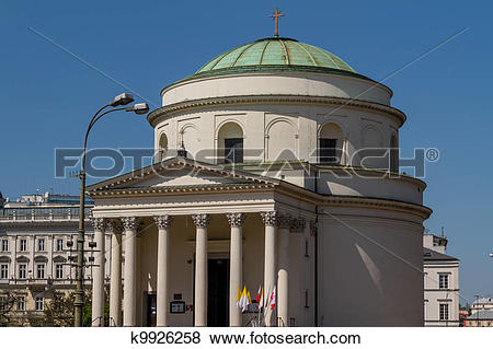 Pictures of Saint Alexander church in Warsaw k9926258.