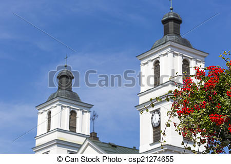 Stock Images of Church of St. Alexander in Suwalki. Poland.