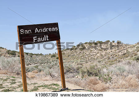 Stock Photograph of San Andreas Fault k19867389.