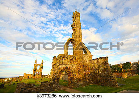 Stock Images of Ruins of St Andrews Cathedral k3973286.