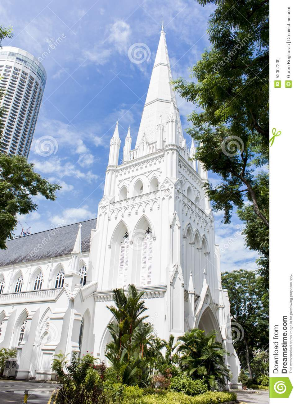 St Andrew's Cathedral, Singapore Stock Photo.