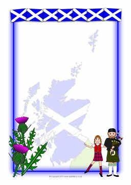 St Andrew\'s Day A4 page borders (SB3183).
