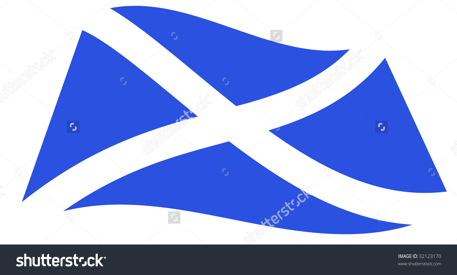 Scottish Flag Saltire Cross St Andrew Stock Vector 32123170.
