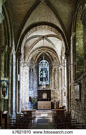 Stock Photography of St. Anne's chapel, Romsey Abbey k7621970.