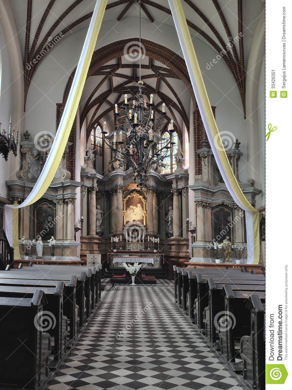 Interior Of St. Anne's Church Stock Image.