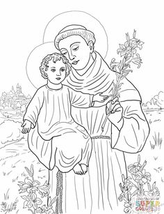 St anthony of padua clipart 2 » Clipart Station.