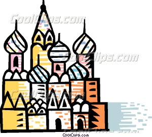 St. Basil's Cathedral Red Vector Clip art.