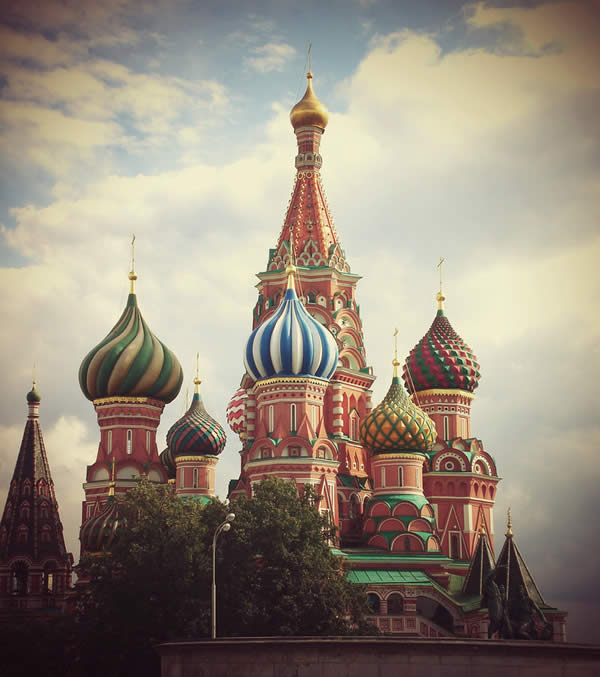 St Basil Cathedral in Moscow.