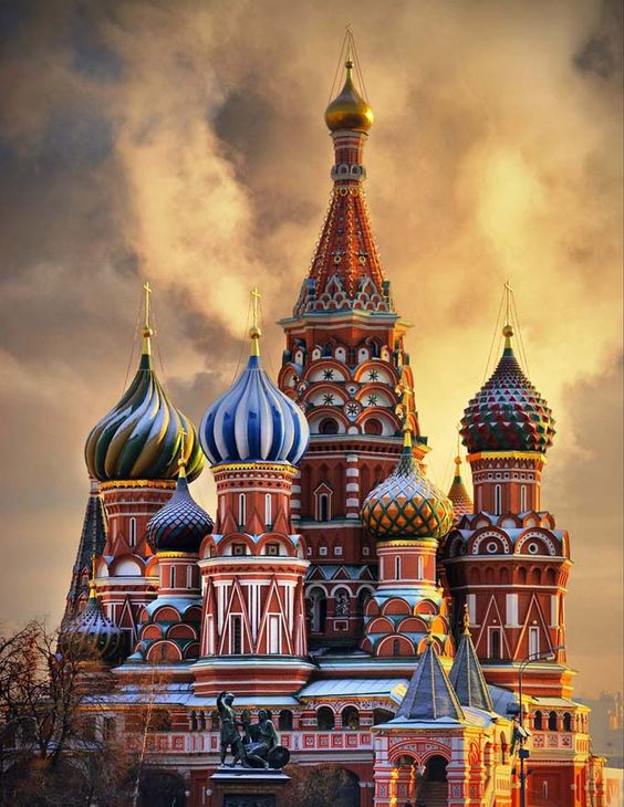 St. Basil's Cathedral, Moscow, Russia..