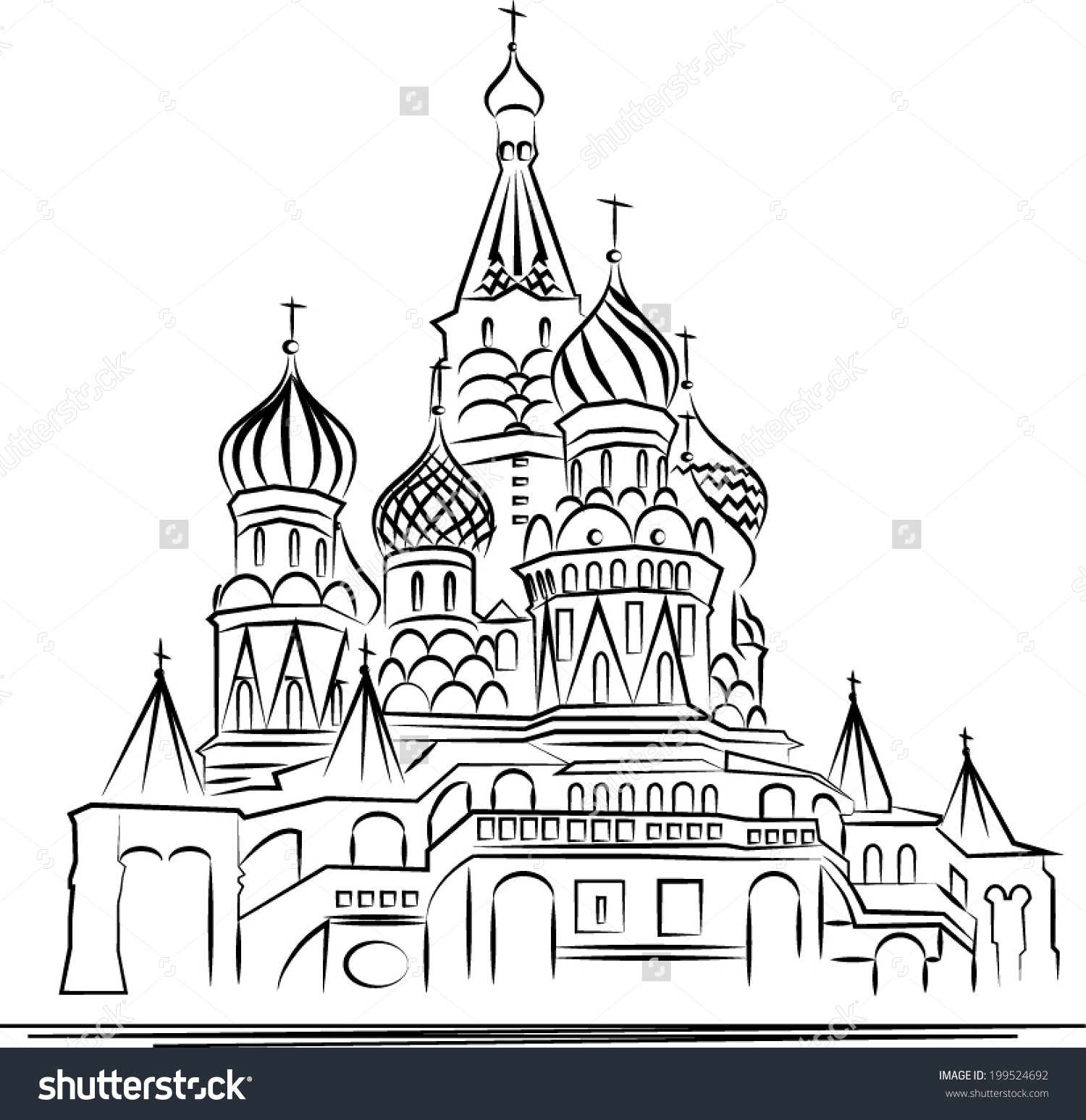 saint basils cathedral coloring pages - photo#24