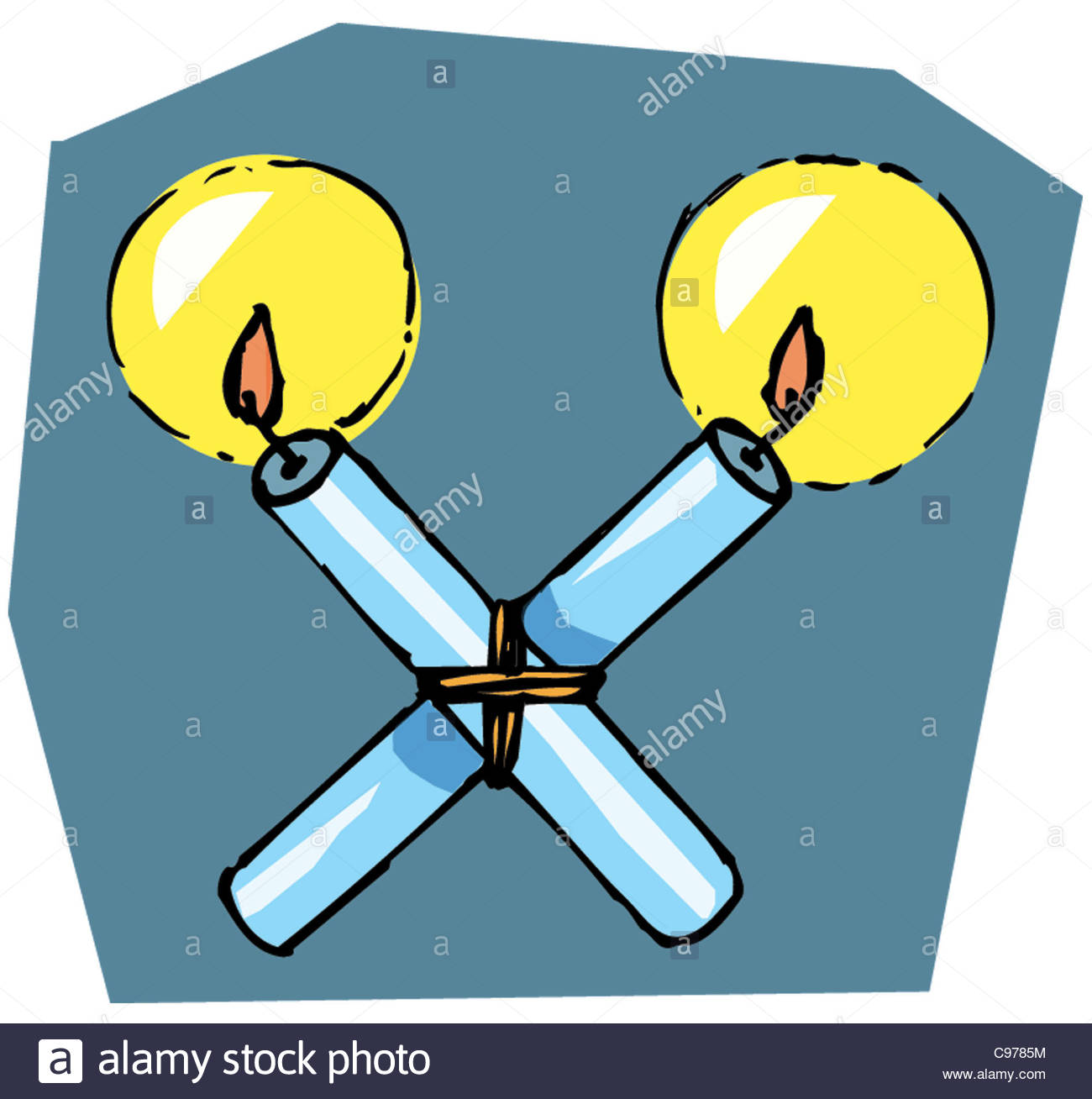 Blessed Candles St.blasius Stock Photo, Royalty Free Image.