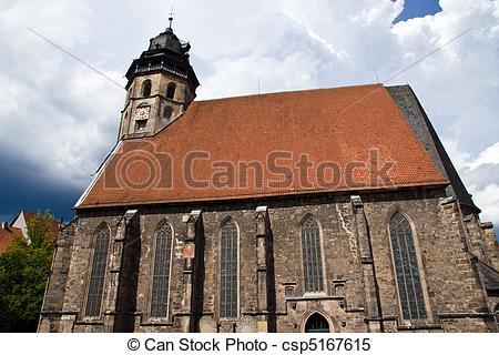Stock Images of St. Blasius Church in Hann Muenden, Germany.