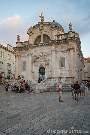 Dubrovnik St. Blaise Main Altar Editorial Stock Image.