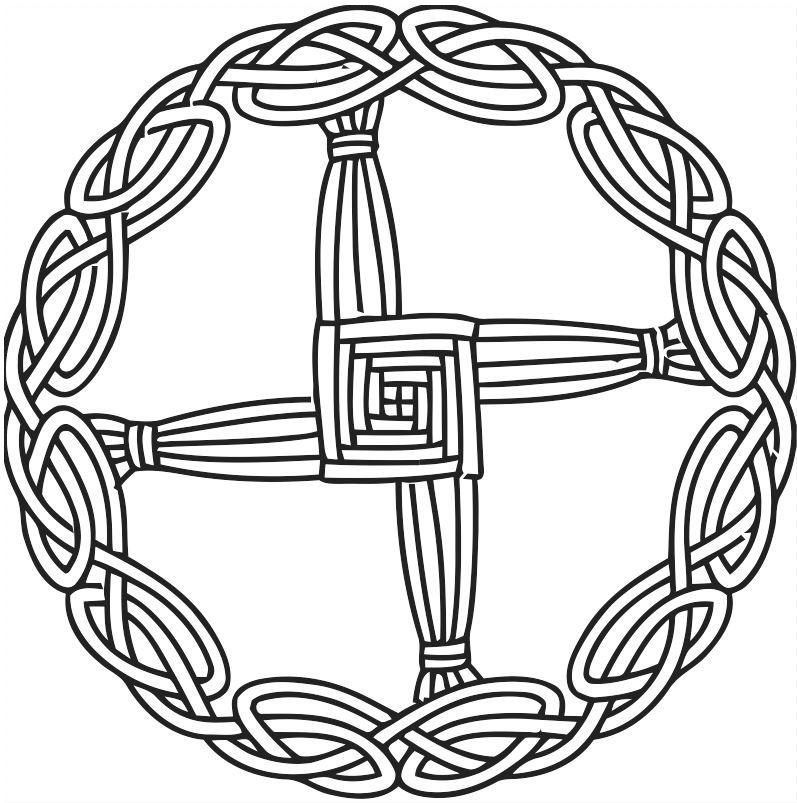 Brigid\'s Cross Imbolc.
