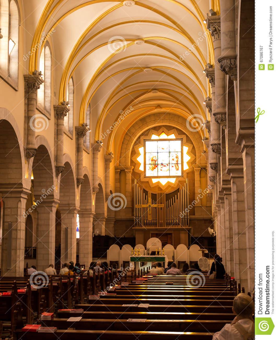Church Of St. Catherine, Bethlehem Stock Photo.