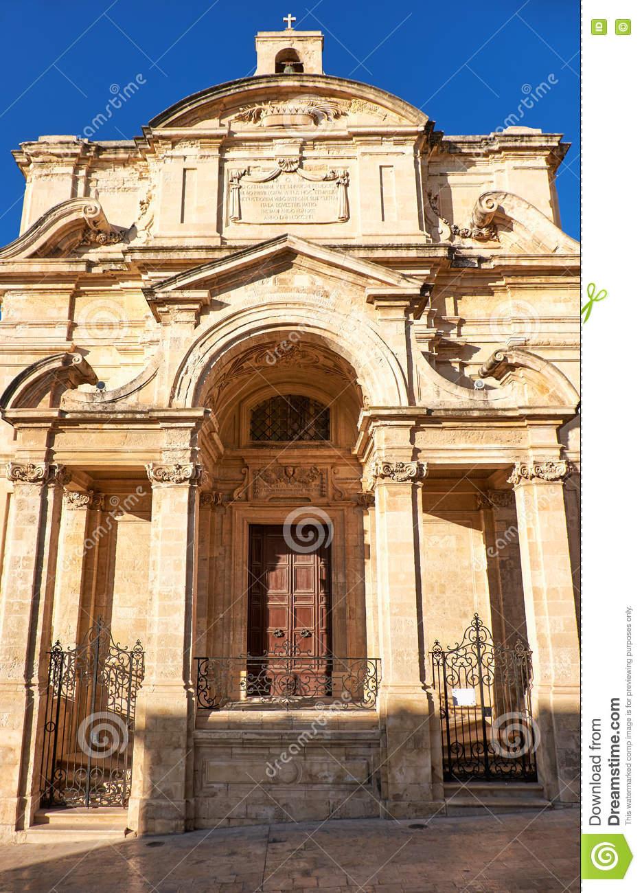 The Church Of St Catherine, Valletta, Malta Stock Photo.