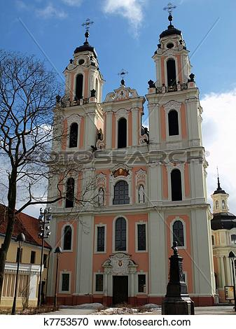 Stock Photography of Saint Catherine church. Vilnius city.