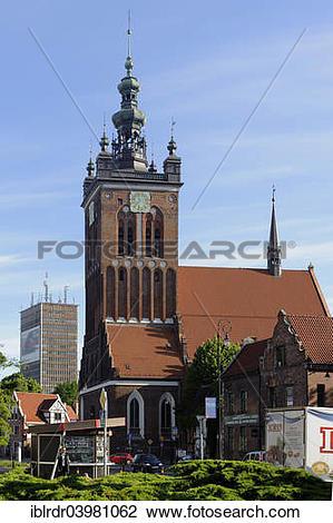 """Stock Photo of """"St. Catherine's Church, Kosciol Sw. Katarzyni."""