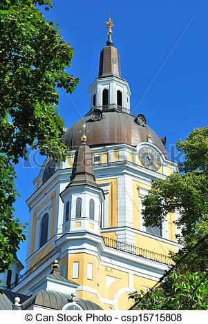 Stock Photography of Stockholm. St. Catherine Church.