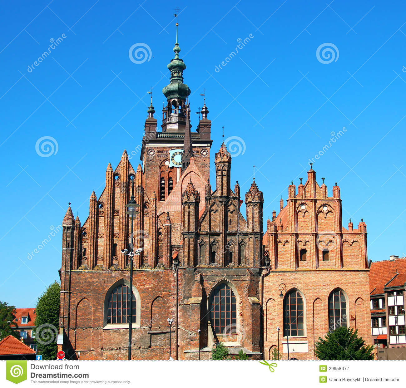 St. Catherine's Church, Gdansk Royalty Free Stock Photography.