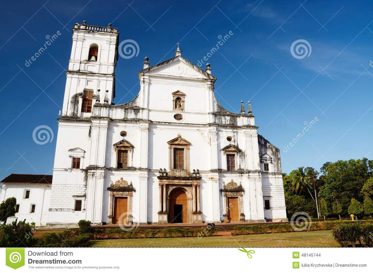 Church Of St. Francis Of Assisi In Old Goa, India.Velha Goa Is A.
