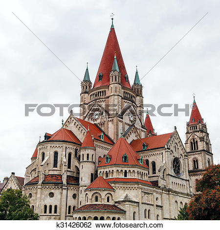 Stock Photo of St. Francis of Assisi Church, Vienna k31426062.