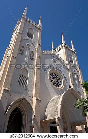 Stock Photo of St. Francis Xavier church, Malacca, Malaysia. u37.