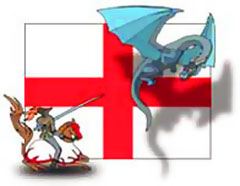 Clipart st george and the dragon.