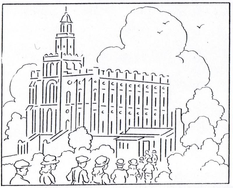 St George Temple Coloring Page from Mormon History Coloring.