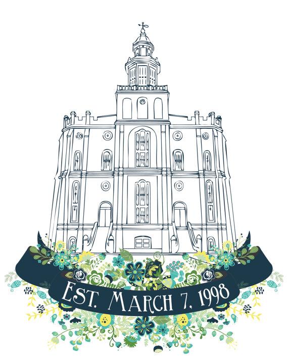 Personalized LDS St. George Utah Temple PrintLast by.