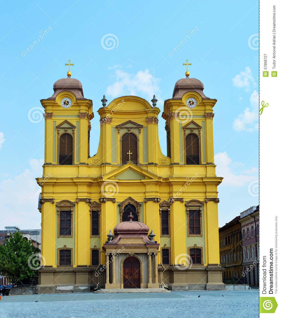 Timisoara Cathedral Of Saint George Stock Photo.