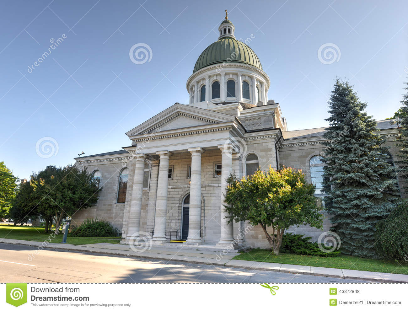 St. George's Cathedral, Kingston, Ontario, Canada Stock Photo.