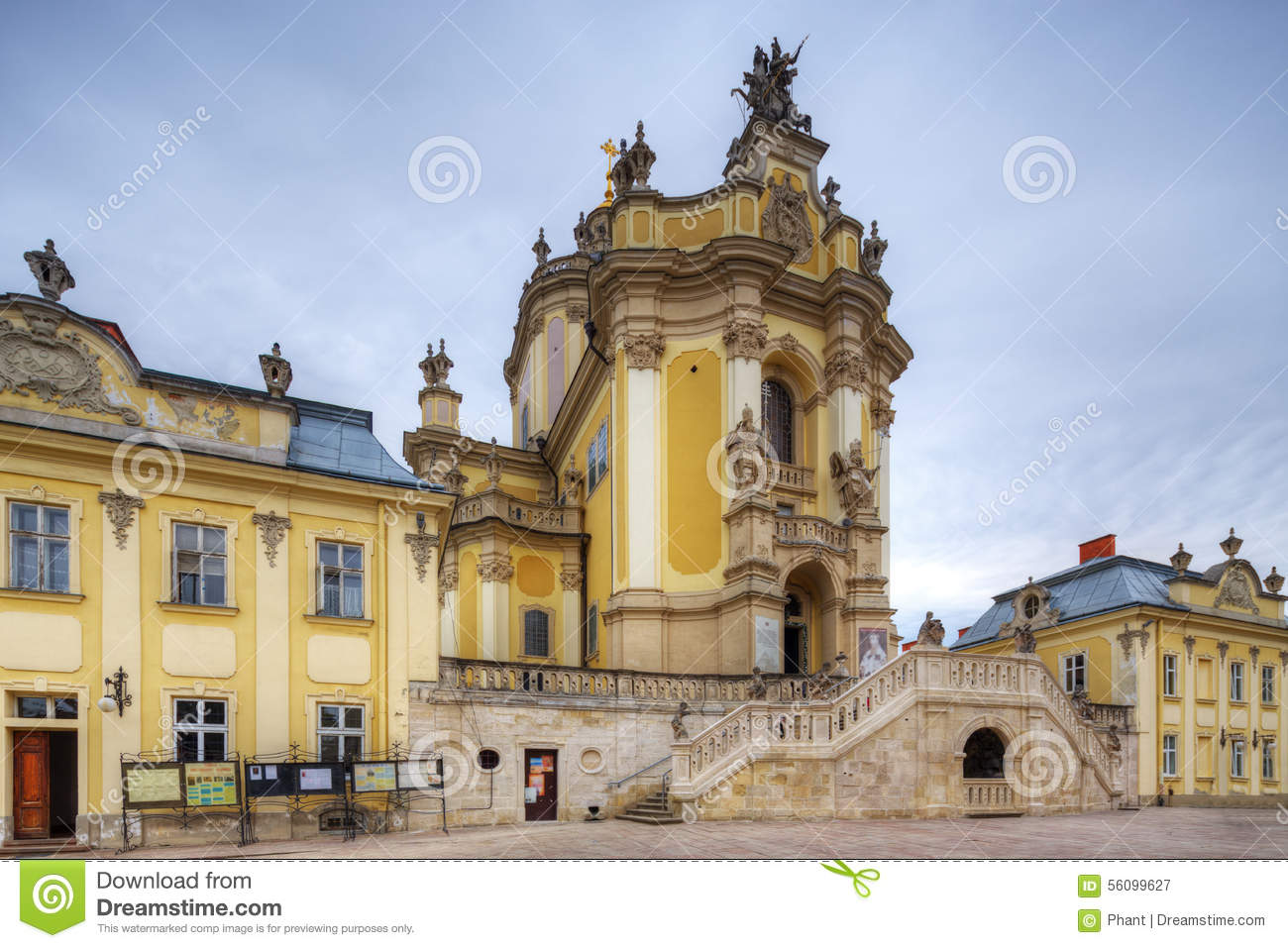 St. George's Cathedral In Lviv, Ukraine Stock Photo.