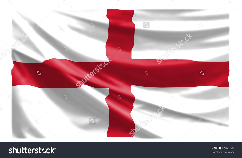 St George Flag Stock Illustration 12165778.