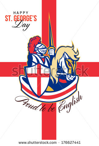 St George Flag Stock Images, Royalty.