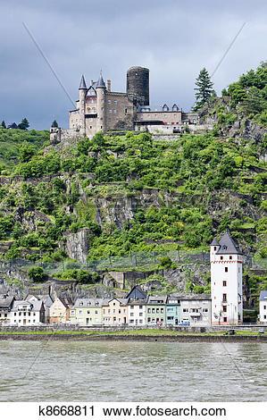 Stock Photography of Cutts Castle, St. Goar, Rhineland.