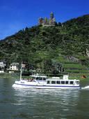 Picture of Burg Katz castle, Rhine River, St. Goar, Germany.