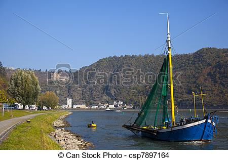 Stock Photo of detail of the rhine st goar gemany csp7897164.