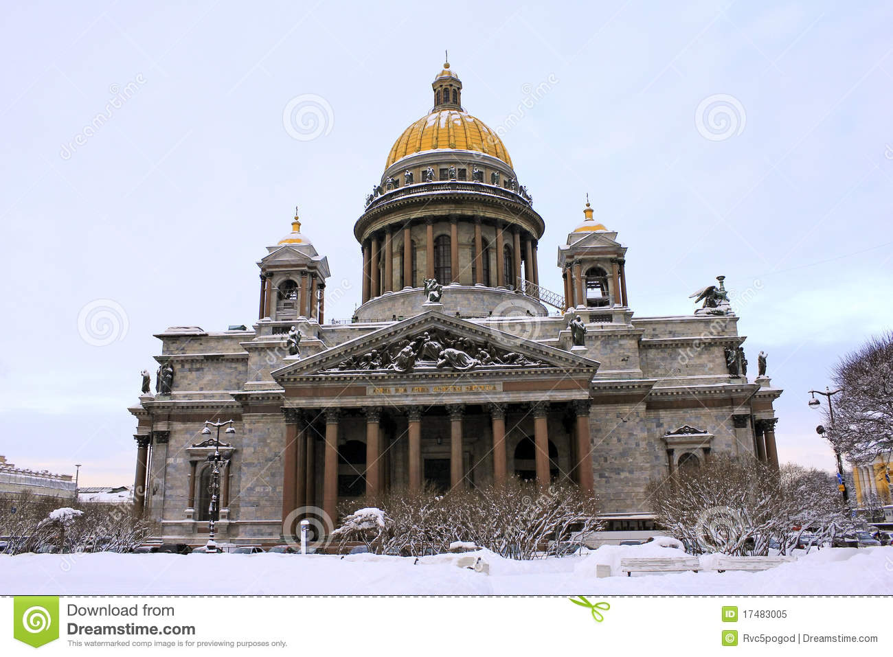 St. Isaac Cathedral Royalty Free Stock Photo.