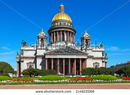 Saint Isaacs Cathedral St Petersburg Russia Stock Photo 114922066.