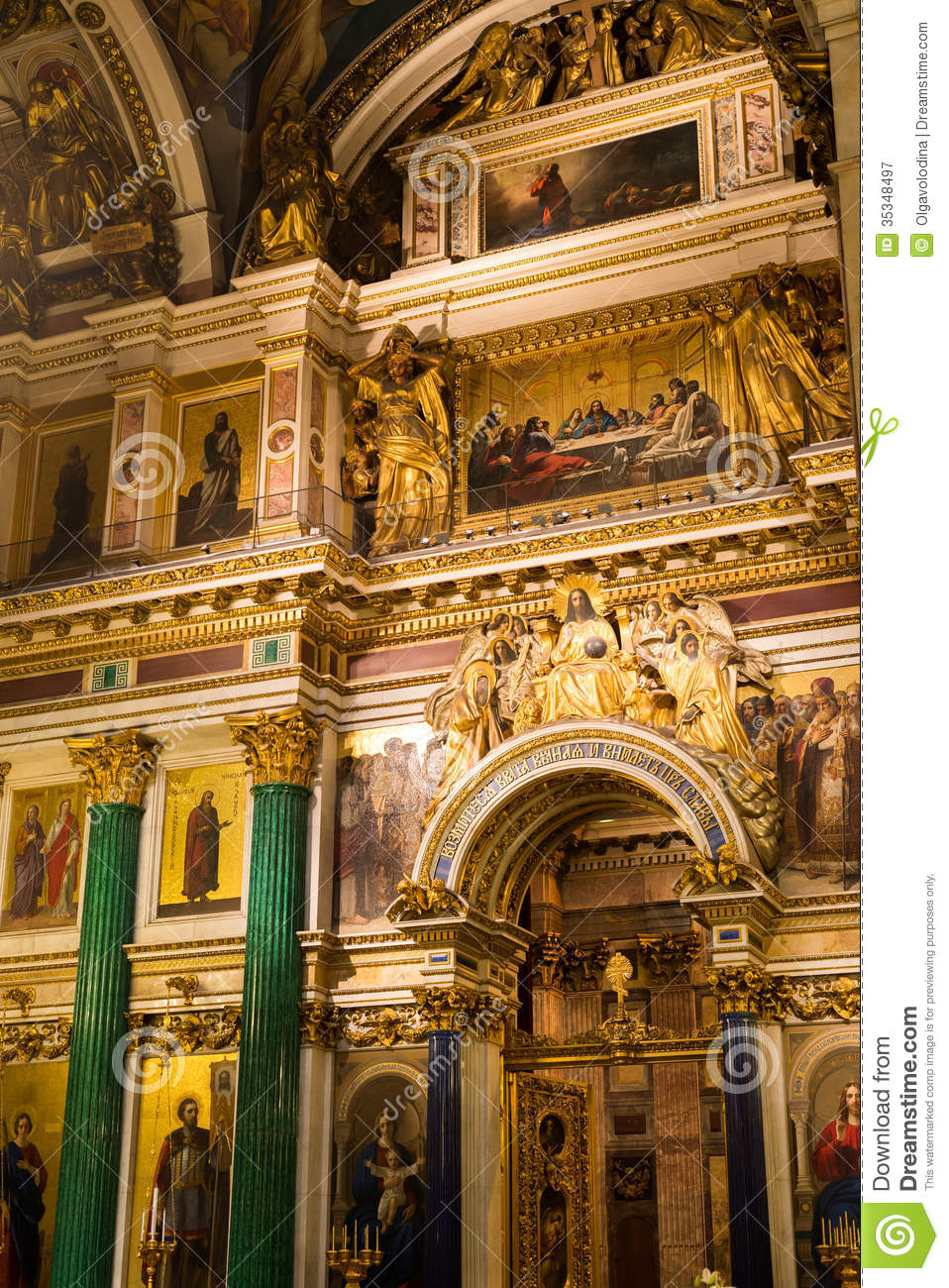 Russia. St. Petersburg. St. Isaac Cathedral. Editorial Photography.