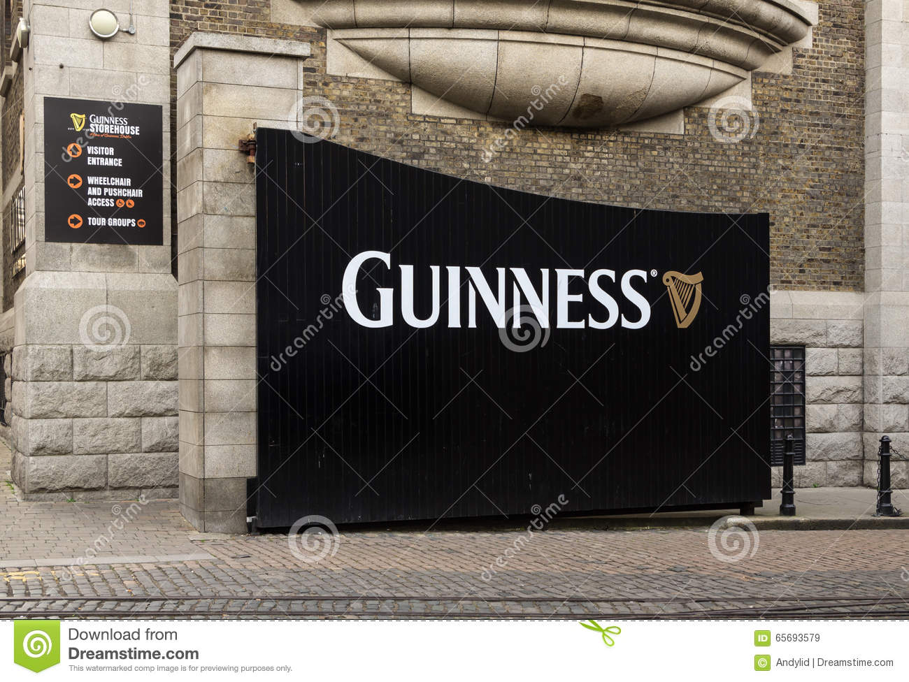 Guiness Factory In Dublin Editorial Stock Image.