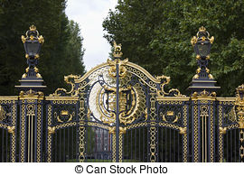 Stock Photo of Golden Gate of St James park, London.
