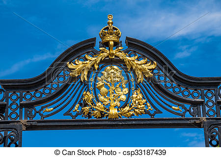Stock Photos of Golden Gate of St James park, London.