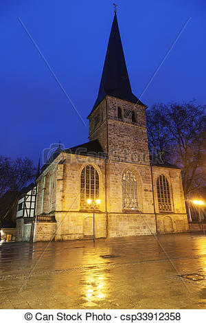 Stock Images of St. Johann Baptist Church in Essen. Essen, North.